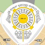 3代目JSB西武ドーム座席表アリーナ1.2階眺め画像付