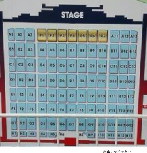 日産スタジアムアリーナ席座席表