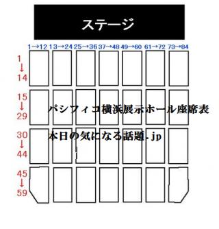パシフィコ横浜展示ホール座席表画像パターン2