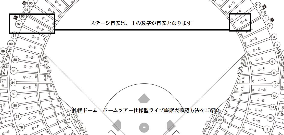 札幌ドームライブ座席表ドームツアー