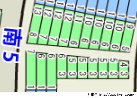 サンドーム福井座席表1階席南5北5位置や配置