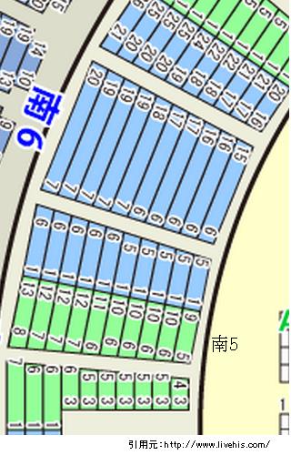 サンドーム福井座席表1階席南6位置や配置