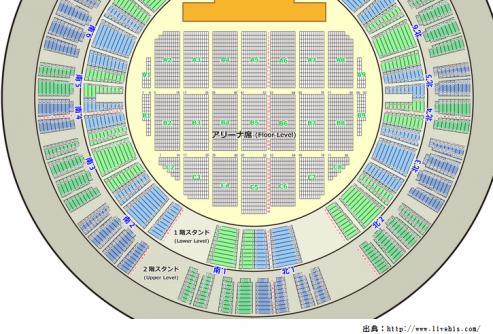 サンドーム福井座席表全体図