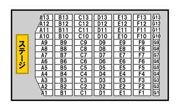 セカオワ幕張メッセ座席表