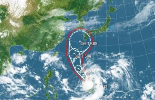 台風18号2016進路ディズニー影響