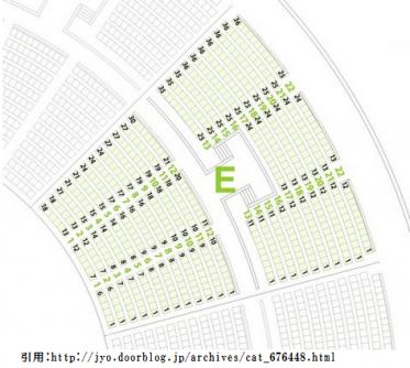 大阪城ホール座席表1階2階
