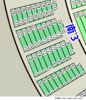 サンドーム福井座席表南3北3の位置