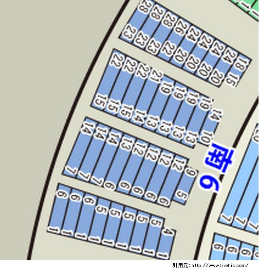 サンドーム福井2階席南6北6位置