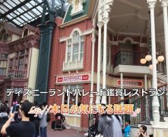 ディズニーランドパレード鑑賞レストラン