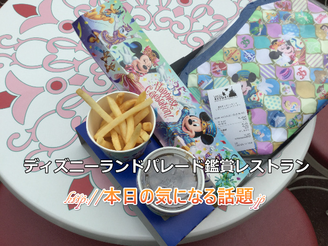 ディズニーランドパレード鑑賞レストラン体験記