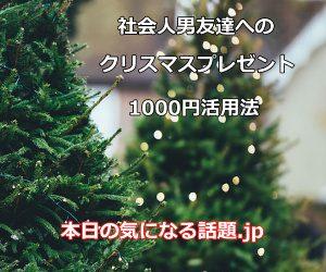 社会人男友達クリスマスプレゼント1000円活用法