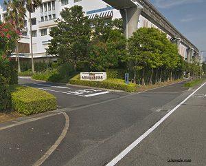 アンバサダーホテル駐車場入り口運動公園入口信号からのルート