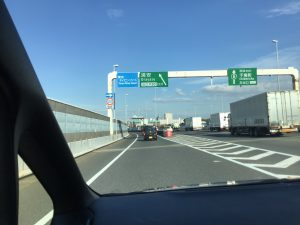 首都高速からアンバサダーホテルへ向かう道のり