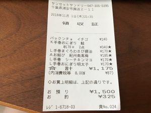 アンバサダーホテルコンビニ値段体験記2018年11月