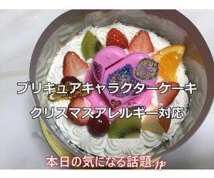 クリスマスアレルギー対応プリキュアキャラクターケーキ