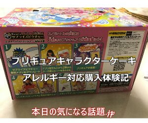 プリキュアキャラクターケーキ(アレルギー対応)